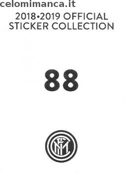 Inter sticker collection 2018 - 2019: Card Back n. 88 Andrea Ranocchia