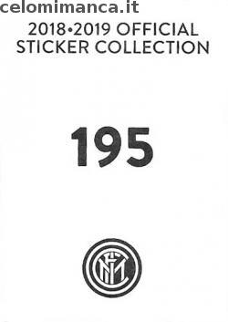 Inter sticker collection 2018 - 2019: Card Back n. 195 -