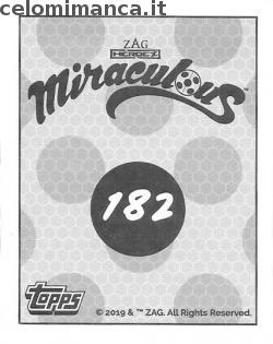 Miraculous Serie 2: Card Back n. 182 -