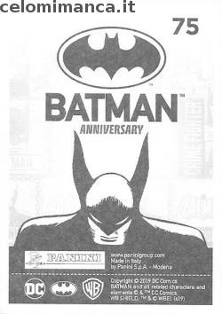 BATMAN Anniversary 80 years: Card Back n. 75 -