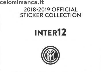 Inter sticker collection 2018 - 2019: Card Back n. INTER12 -
