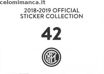 Inter sticker collection 2018 - 2019: Card Back n. 42 -