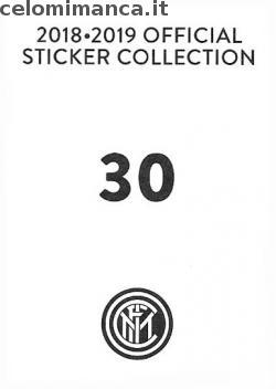 Inter sticker collection 2018 - 2019: Card Back n. 30 Mauro Icardi