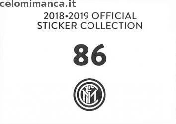 Inter sticker collection 2018 - 2019: Card Back n. 86 Andrea Ranocchia