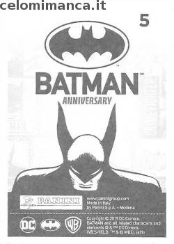 BATMAN Anniversary 80 years: Card Back n. 5 -