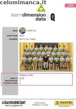 GIRO D'ITALIA 101: Retro Figurina n. C36 Team Dimension Data