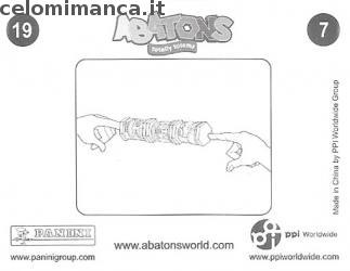 ABATONS HUMANS: Card Back n. 19FIG Trudy