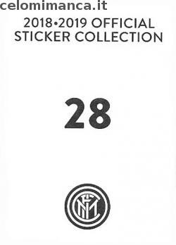 Inter sticker collection 2018 - 2019: Card Back n. 28 Ivan Perisic