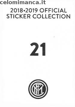 Inter sticker collection 2018 - 2019: Card Back n. 21 Danilo D'Ambrosio