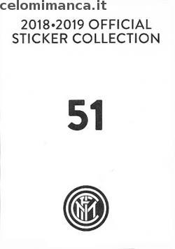 Inter sticker collection 2018 - 2019: Card Back n. 51 Luciano Spalletti