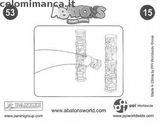 ABATONS HUMANS: Card Back n. 15FIG Taharqa