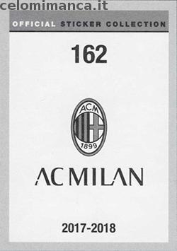 Milan Official Sticker Collection 2017/2018: Retro Figurina n. 162 -