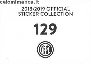 Inter sticker collection 2018 - 2019: Card Back n. 129 Radja Nainggolan