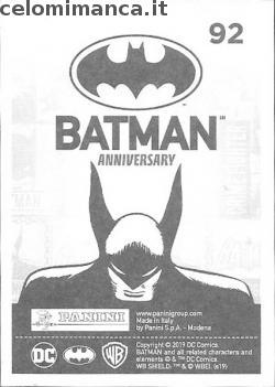 BATMAN Anniversary 80 years: Card Back n. 92 -