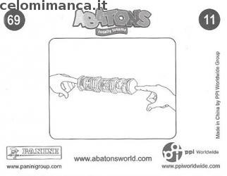 ABATONS HUMANS: Card Back n. 11FIG Temille