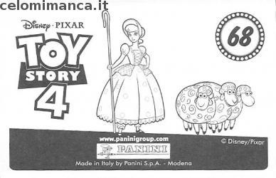 Toy Story 4: Card Back n. 68 -