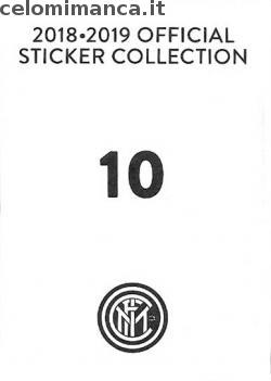 Inter sticker collection 2018 - 2019: Card Back n. 10 Luciano Spalletti