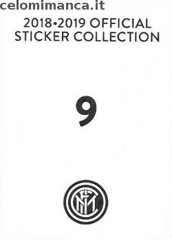 Inter sticker collection 2018 - 2019: Card Back n. 9 -