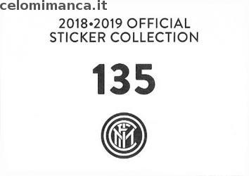 Inter sticker collection 2018 - 2019: Card Back n. 135 Borja Valero