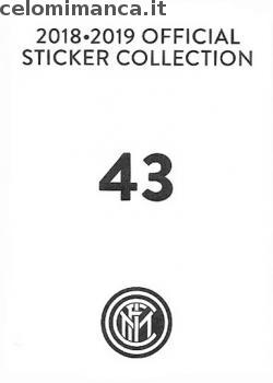 Inter sticker collection 2018 - 2019: Card Back n. 43 -
