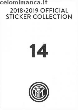 Inter sticker collection 2018 - 2019: Card Back n. 14 Raffaele Di Gennaro