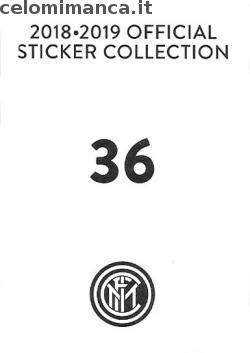 Inter sticker collection 2018 - 2019: Card Back n. 36 -