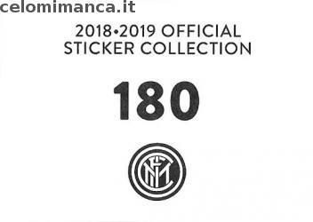 Inter sticker collection 2018 - 2019: Card Back n. 180 -