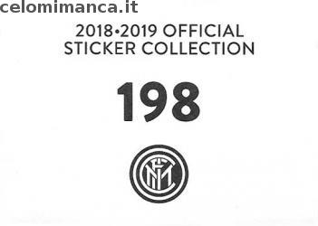 Inter sticker collection 2018 - 2019: Card Back n. 198 -