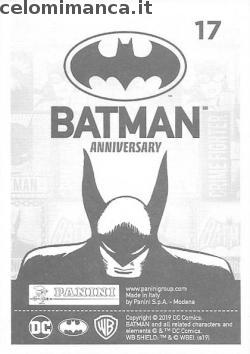 BATMAN Anniversary 80 years: Card Back n. 17 -