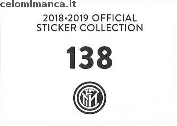Inter sticker collection 2018 - 2019: Card Back n. 138 Borja Valero