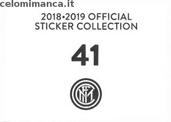 Inter sticker collection 2018 - 2019: Card Back n. 41 -