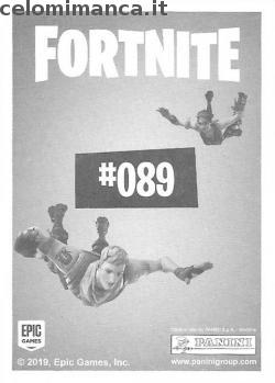 Fortnite Ready to Jump!: Card Back n. 089 Cavaliere Reale