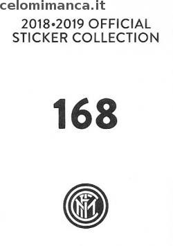 Inter sticker collection 2018 - 2019: Card Back n. 168 Matteo Politano