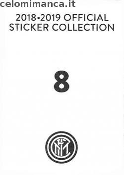 Inter sticker collection 2018 - 2019: Card Back n. 8 -