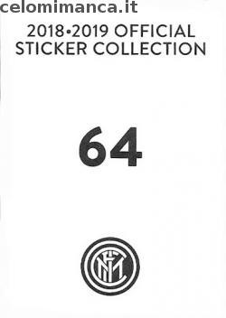 Inter sticker collection 2018 - 2019: Card Back n. 64 Daniele Padelli