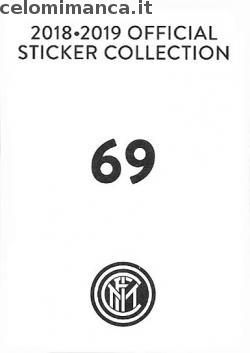 Inter sticker collection 2018 - 2019: Card Back n. 69 Tommaso Berni