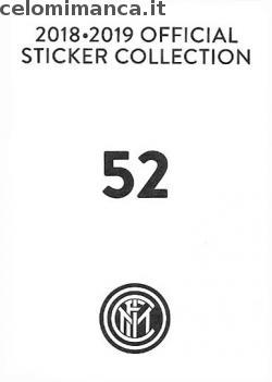 Inter sticker collection 2018 - 2019: Card Back n. 52 Luciano Spalletti