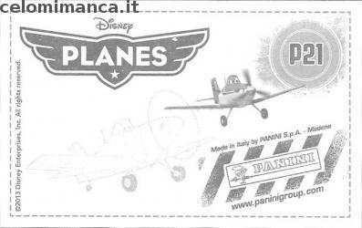 Planes Sticker Album: Card Back n. P21 -