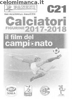 Calciatori figurine 2017-2018: Retro Figurina n. C21 -