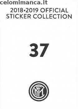 Inter sticker collection 2018 - 2019: Card Back n. 37 -
