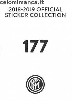 Inter sticker collection 2018 - 2019: Card Back n. 177 Viareggio Cup 2/2