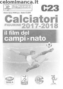 Calciatori figurine 2017-2018: Retro Figurina n. C23 -