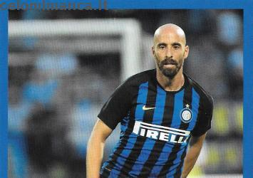 Inter sticker collection 2018 - 2019: Card Front n. 137 Borja Valero