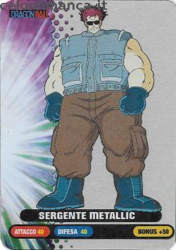 Dragonball Collection ed.2019: Card Front n. 52 Sergente Metallic