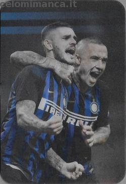 Inter sticker collection 2018 - 2019: Card Front n. 205 -