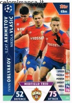 Match Attax UEFA Champions League 2018-2019 Road to Madrid 19: Card Front n. 126 Ilzat Akhmetov / Ivan Oblyakov / Nikola Vlašić