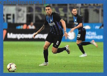 Inter sticker collection 2018 - 2019: Card Front n. 122 Matias Vecino
