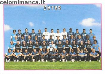 Calciatori 2009 - 2010: Card Front n. V10 Inter Team Photo