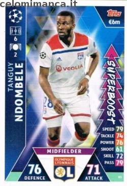 Match Attax UEFA Champions League 2018-2019 Road to Madrid 19: Card Front n. 83 Tanguy Ndombele