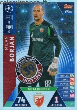 Match Attax UEFA Champions League 2018-2019 Road to Madrid 19: Card Front n. 177 Milan Borjan